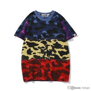 New Tide Marke Liebhaber Camouflagedruck Farbabstimmung T-Shirt Männer Sport-Rundhalsausschnitt lose T Shirts