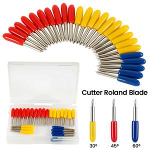 플로터 비닐 커터 나이프 블레이드를 절단 25pcs 30 45 60 학위 롤랜드 Cricut는 Cricut 기계 밀링 커터 라우터 비트 오프셋