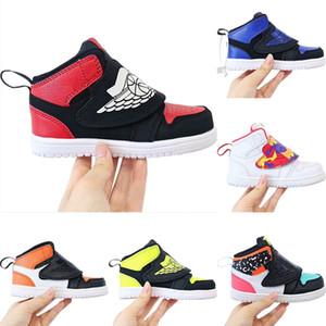 2020 Vintage-1 OG Bred Kinderhoch Skateboard Sneaker Original-1s Bred Kind-rutschfester Gummi Integriertes Zoom-Air-athletische Schuhe