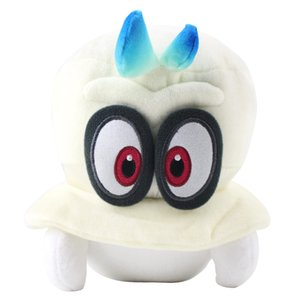 Plush Toys Super Mario Bros Mario Odyssey White Blue Cappy Cosplay Super Mario Plush Children Gifts