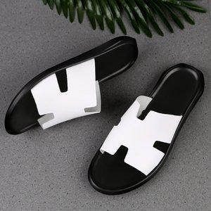 Nuevas polainas zapatos de los hombres sandalias de verano Tight primeros pantalones transpirables y capa de los hombres de cuero de vaca sandalias hRfmz