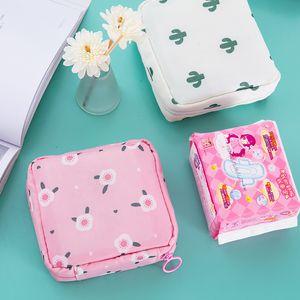 Women Girl Sanitary Pad Organizer Purse Cosmetic Holder Case Bag Pouch Women Girls Tampon Holder Travel Makeup Storage Organizer