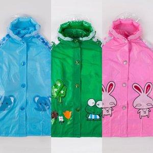 ragazze zmLZ2 bambini Cloak Bag bambini e mantello' poncho studenti scuola materna con l'impermeabile sede zaino impermeabile modo del fumetto