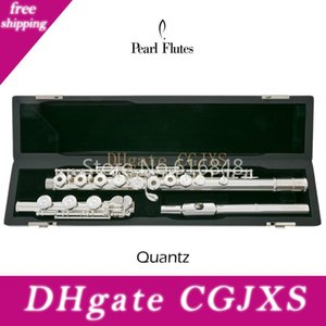 Pearl Quantz Pf -665 17 Clés trous ouverts Flûte plaqué Argent Surface cupronickel Flûte traversière C Tune E Key Flute Instrument de musique avec étui