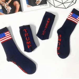 ترامب الرئيس الجوارب ترامب رسالة جوارب مخططة نجوم الولايات المتحدة العلم الرياضة الجوارب أمريكا ترامب 2020 الجوارب CYZ2701