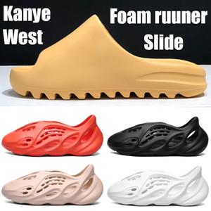 Moda ile kutu Kanye West Slider kemik reçine çöl kumu çekirdekli toprak kahverengi erkekler kadınlar sandalet üçlü siyah turuncu Ararat Platformu ayakkabı