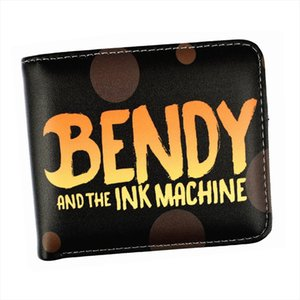 Free Shipping Short Game Wallet Bendy And The Ink Machine Purse With Card Holder Coin Pocket 3 Style