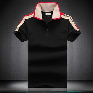 Homens polo Bermuda 2020 impressão Europeia hip-hop camisa nova em torno do pescoço dos homens do algodão bordado polo de manga curta polo verão