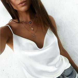 Women Sexy Casual Summer Top Elegant Plain Basic Chiffon Tank Ladies T Shirt Loose Tee Sleeveless Vest Dames debardeur femme