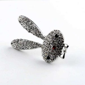 Rabbit Brooch Men Women Brooch Pins Rhinestone Jewelry designer brooches Gifts Top Quality Free Shipping
