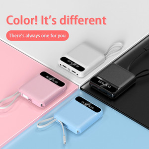 Mini Power Bank 20000mAh 5V 2.1A Power Bank For Phone Powerbank Portable Mini Pover Bank Fast Charger External Ba