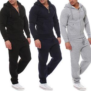 2020 NEW Модные Muscle Men Workout костюм Топ Брюки Костюм наборы Hoodie пальто Брюки Верхняя одежда