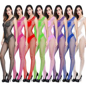Женщины Сексуальная Lingeries ажурные чулки Bodycon Hot Эротическое платье Цельный белье Babydoll Mesh пижамы Женщины Sexy костюмы Ночное