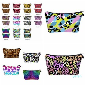 Designer- Leopard Printed Cosmetic Bag Travel Portable Digital Printing Makeup Handbag Purse Storage Bags Organizer Travel Pouch Wash Bags