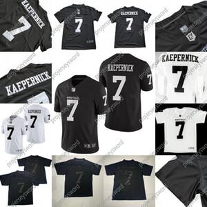 IMWITHKAP Jersey 7 Colin Kaepernick IM CON KAP 100% cucito delle donne degli uomini della gioventù di film del calcio Jersey Nero Bianco trasporto veloce S-XXXL