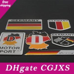 Personalidade quente adesivo de carro engraçado Modificado cauda alemão Bandeira Tricolor Sticker corpo emblema decoração adesivo Logo