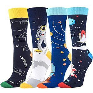 Носки Красочные Мужская мода хлопок носки Четыре Стиль Математика Носки мужские Printed Designer
