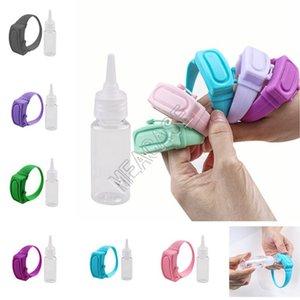 معصم اليد المطهر موزع المحمولة سيليكون اليد المطهر سوار لبس الأساور لغسل اليدين المطهر حامل D81911