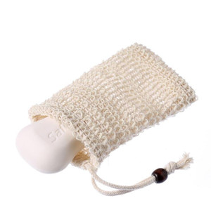 Soap Bag Making Bubbles Saver Sack Pouch Storage Drawstring Bags Skin Surface Cotton Linen Cleaning Drawstring Holder Bath Supplies FWD2893