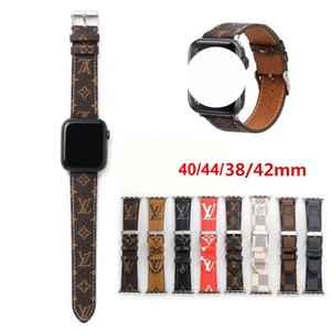 for Apple Watch Band PU Leather 42mm 38mm 40mm 44mm Adjustable Strap for iWatch Bands 5 4 3 2 Designer Straps Best Quality