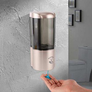 500ml sin contacto del sensor automático dispensador de jabón sin contacto de ahorro de energía de la bomba de jabón Botella ajustable de salida 3 Engranajes Líquido