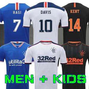 2020 2021 Glasgow Rangers FC terzo pullover assente di calcio 20 21 DEFOE Hagi MORELOS TAVERNIER Rangers bianco calcio Shirts Maglia piedi
