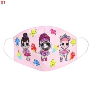 18 stylys 30pcs Çocuk dener fa maskeleri karikatür bebek baskılı Mix toz geçirmez Anti-Dust Yüz er Maskeler Maske üç boyutlu