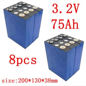 KLUOSI 8PCS 3.2V 75Ah battery pack LiFePO4 Lithium iron phospha Large capacity 75000mAh Motorcycle Electric Car motor batteries