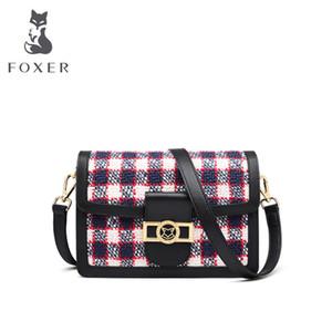 FOXER lüks çanta kadın çanta tasarımcı lüks çanta kadın çantası için deri omuz crossbody Woemn