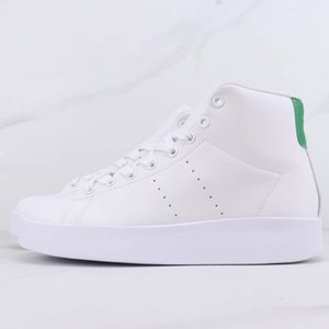High quality Smith women white high-top skateboarding shoes super soft leather outdoor casual sneaker fashion non-slip wear-resistant