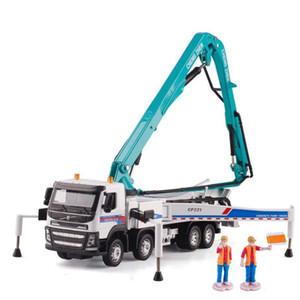 1/50 Escala Camião Bomba para Betão liga Acousto -Optic Cement Transporter Diecast Engenharia de Veículos Crianças Toy Model Collection