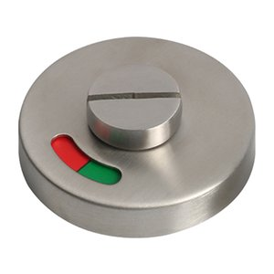 WC Toilet Shopping Mall Stainless Steel Indicator With Turn Knob Hotel Door Lock