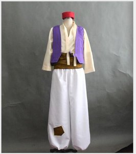 Custom Made Aladdin lampe prince Aladdin costume pour homme adulte Dance Party Film cosplay costume