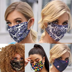 Mascarilla Camo Sequin Designer Butterfly Face Masks Sliders Ear-mounted Mask Dustproof Flower Mask Rose Hot Style Face Reuseable Droga Iojo
