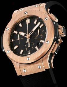venta caliente se levantó Movimiento de oro negro para hombre Relojes A2813 Big Bang mecánico automático reloj de los hombres Moda Hombre Relojes de pulsera de plata Deportes