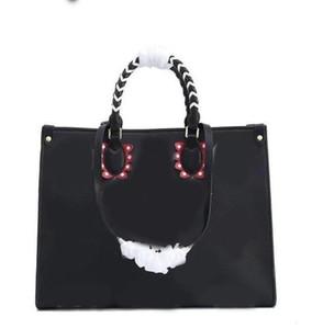hakiki deri omuz çanta anvas tote Çanta moda bayan çanta çanta alışveriş Yeni Şeker torbası en kaliteli onthego GM Kurnaz kadın