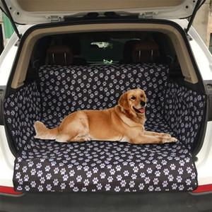 Assento de carro do cão Capa Pegada Grosso mordida impermeável resistente traseiro Tronco Hammock Almofada Protector Seat Cover Pad Mat