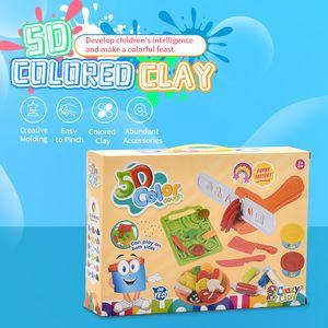 Nueva DIY helado herramienta juguete molde de barro color de la máquina de barro kit manual de fideos regalo educación de los niños juguete de la cocina de la máquina