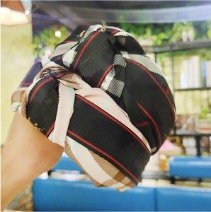 estilo DHL atado clássico estrutura Retro luxo cabeça cabelo Acessórios Plaid China fez-headwear marca menina mistura colorida