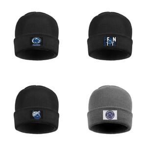 Moda Penn State Nittany Lions de fútbol azul logo holgados Beanie sombreros del ganchillo de fútbol gris redondo del logotipo azul de oro Gay orgullo del arco iris