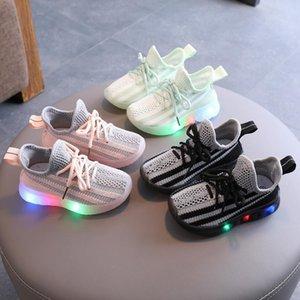 Малыш Детские Детские Светящиеся кроссовки Девочки Мальчики Bling Led Light Up Спорт Кроссовки Mesh Спортивная обувь Led Roller Skate Shoes