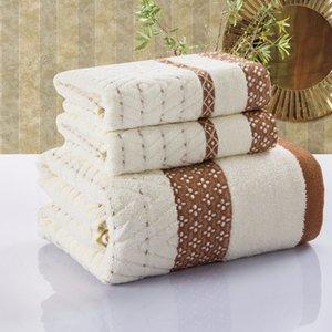 colore marrone caffè Nuovi set di asciugamani da bagno set spiaggia faccia asciugamano di cotone da bagno 100% per il set adulti bagno di cotone
