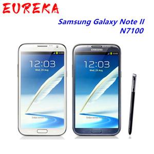 """Originale N7100 sbloccato Samsung Galaxy Note 2 II N7100 del telefono mobile 5.5"""" Quad Core GPS 8MP WCDMA ricondizionato Smartphone"""