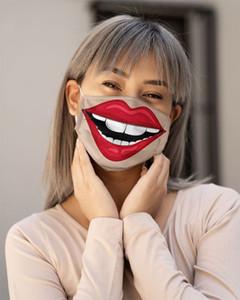 Máscaras Moda bocas de labios Cara reutilizable Mascarilla lavable de algodón respirable Mascherine ciclo Pm 2.5 Proteger plegable 5hm C2