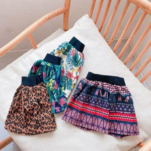 2020 new Autumn Winter corduroy girls skirts leopard print kids skirts floral baby skirts fashion shorts skirt girls clothes B2154