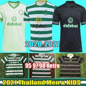 2020 2021 Celtic MCGREGOR GRIFFITHS قمصان كرة القدم FORREST 20 21 براون روجيك كريستي 95 96 97 98 ريترو خمر قميص كرة القدم الرجال الاطفال