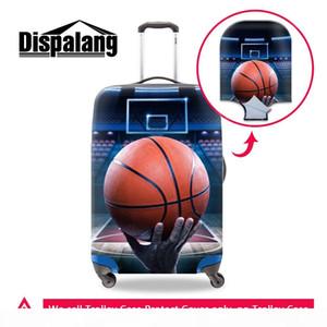 cubiertas de equipaje bonitos para viajar patrón de baloncesto de impresión en la maleta de cubierta más nuevos bolsos de viaje accesorios más frescos cubre la caja de equipaje