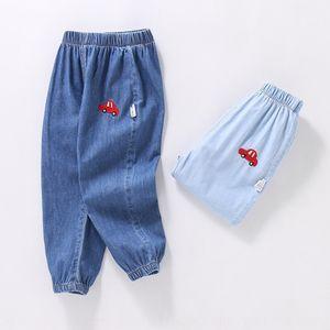 GLtnj Мальчики Фонарь против комаров штанов против комаров Джинсы Jeans весна и осенью нового детских свободного фонарь брюки детского случайные