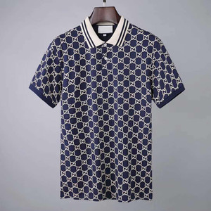 2020 Italia modo del progettista di lusso classica di marca uomini nuovi di polo magliette polo manica corta ricamo Lettera mens polo mens progettista