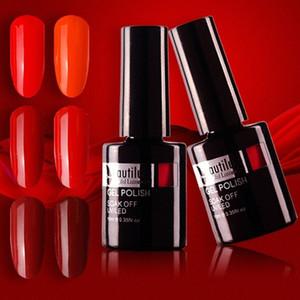 Вино Вишневый Burgundy красный цвет ногтей гель польский Soak Off UV LED Nails Art Гели лак для ногтей лак 10мл LeMw #